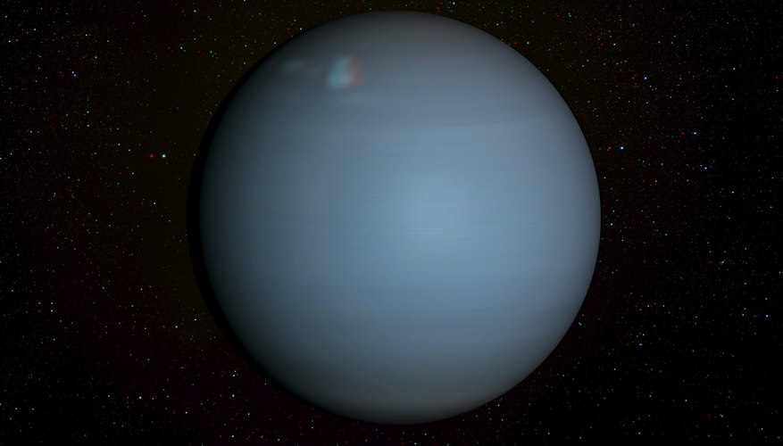 Uranus as viewed from the Hubble Space Telescope