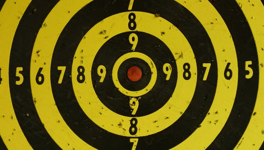 Shooting practice often uses a target