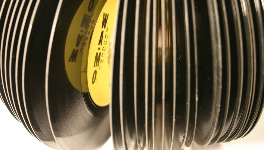 A stack of 45 rpm records