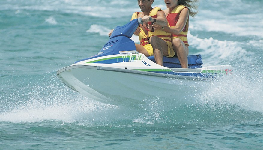 Never run a Polaris jet ski out of the water without a water flush kit.