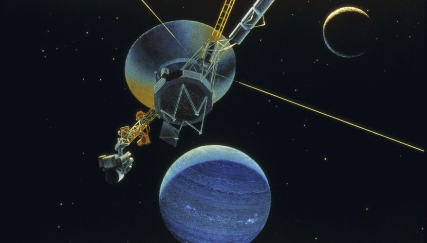A rendition of the NASA space probe Voyager I.