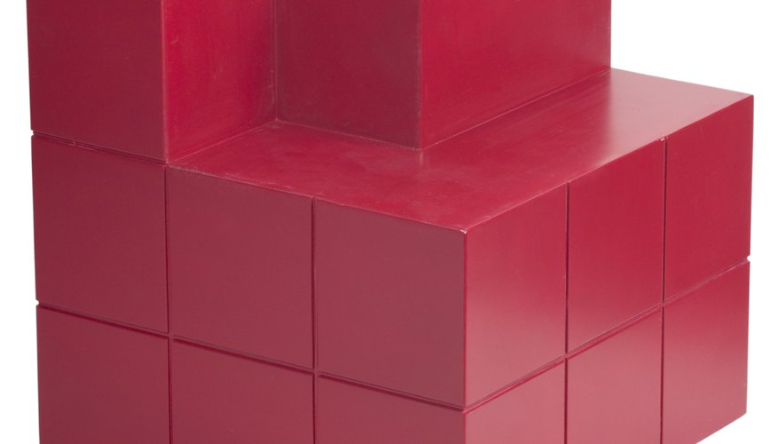 Cubes are three-dimensional figures with the same width, length and depth.