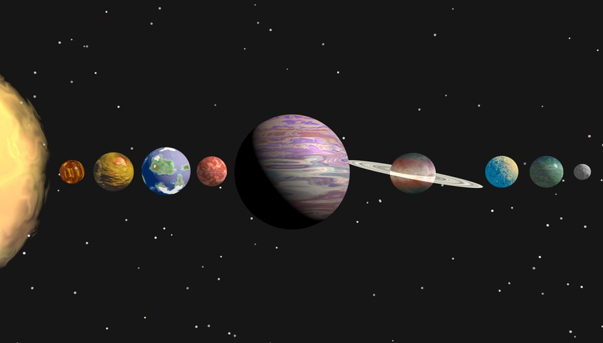Massive distances separate the planets from the sun.