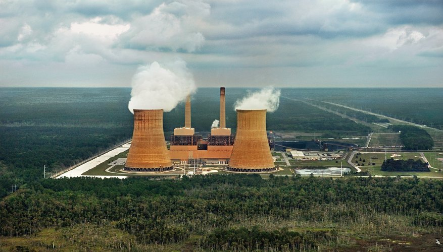 Nuclear and fossil-fuel power plants produce energy from different sources.