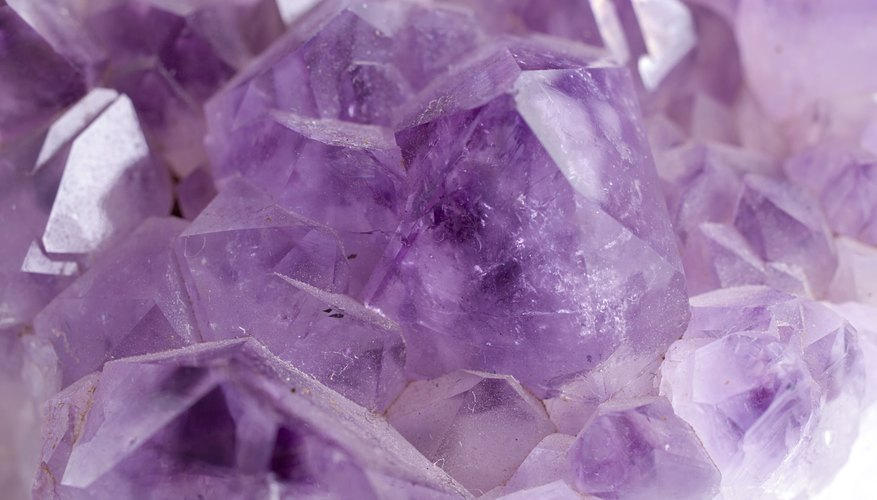 Close up of amethyst crystals.