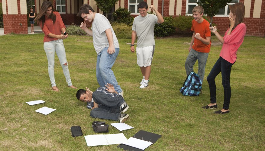Bullying may lead to students lashing out.