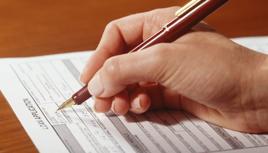 All unsecured loans start with a completed application.