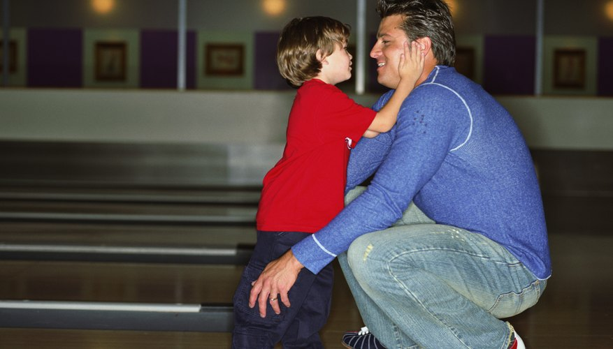 Take your child bowling for a fun indoor activity.