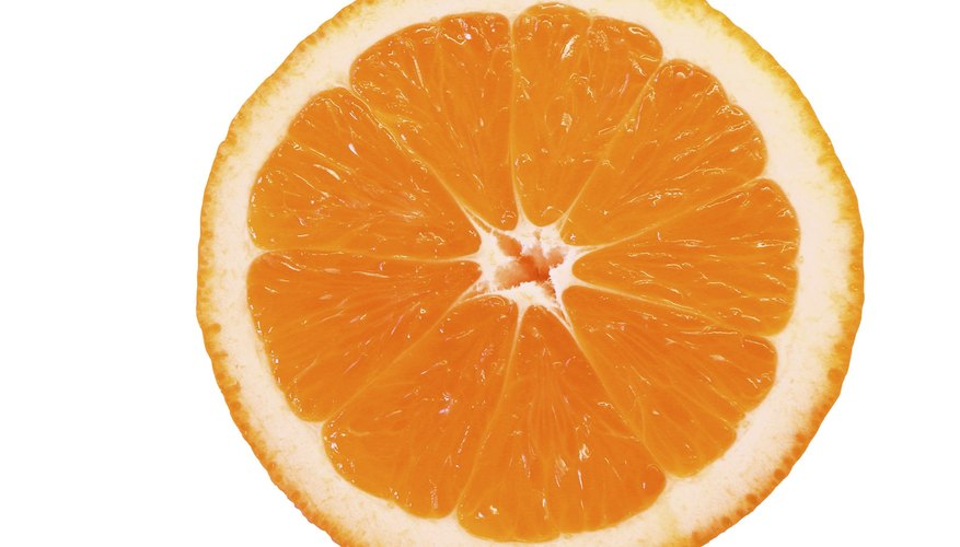 Oranges have acid