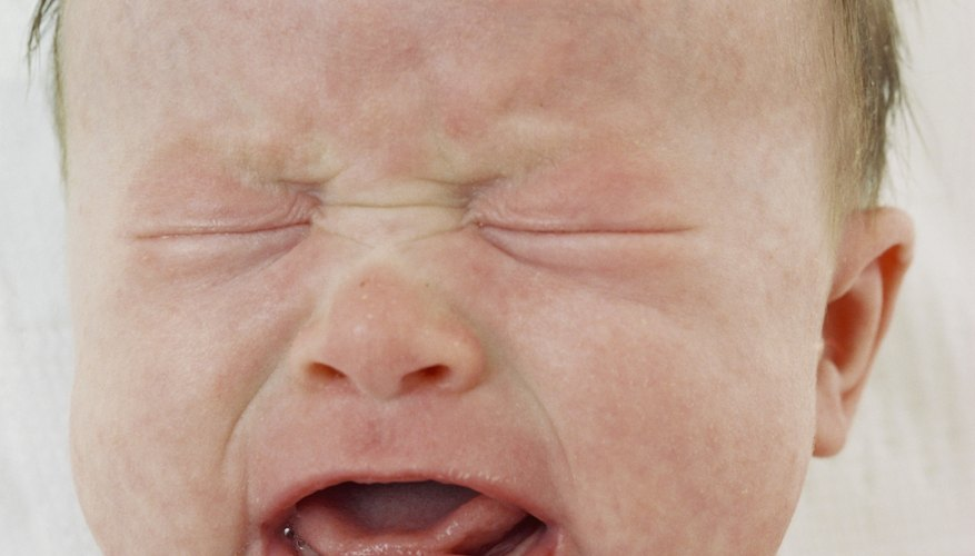 Newborns who have a bellyache may appear to be in pain.