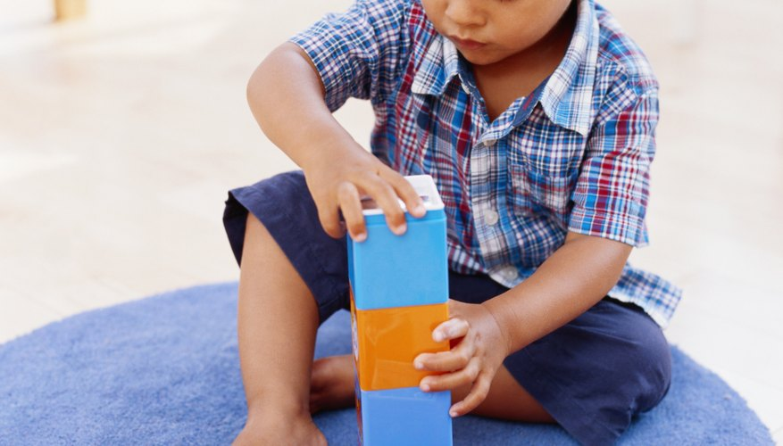 Replace traditional wooden blocks with sponges for a quiet, fun game.