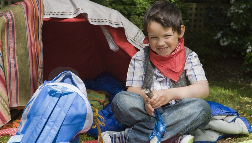 Camp with your little one in your backyard.