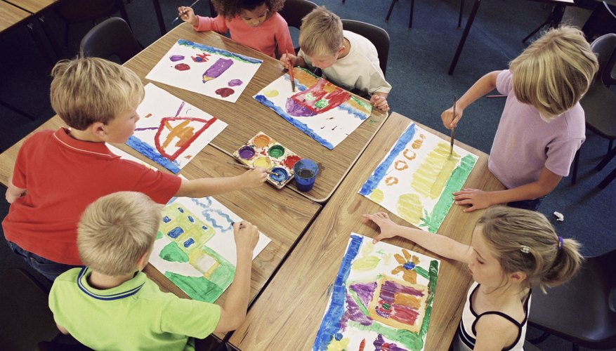 Have the kids create and illustrate a story during a play date.