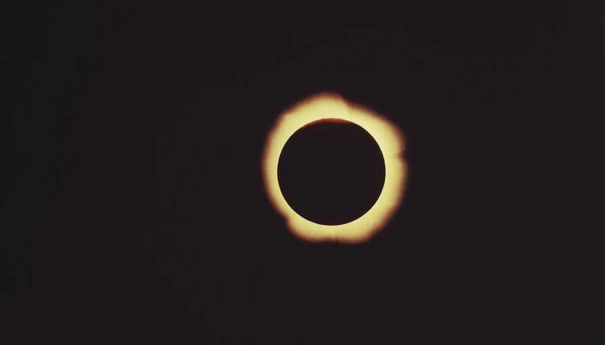 The ring around the moon in a total eclipse is caused by the sun's corona.