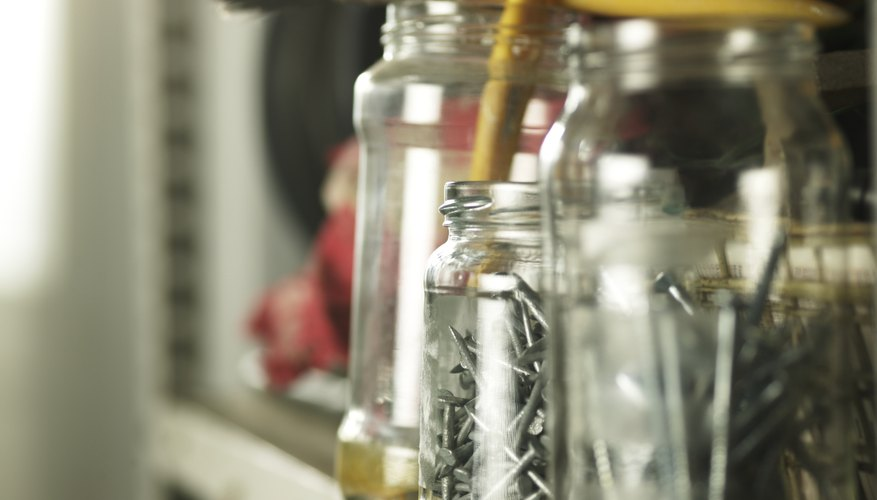 Glass jars can be reused for a variety of storage purposes.