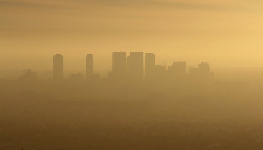 Smoggy day in Los Angeles.