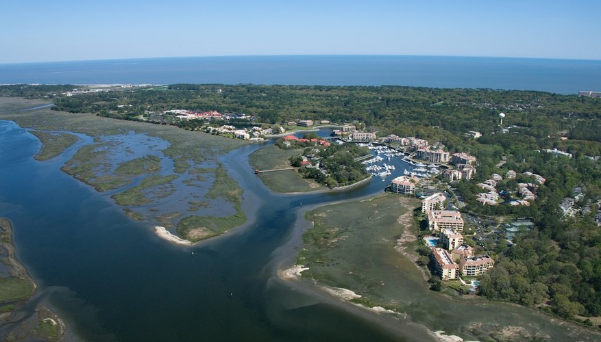 aerial view of Hilton Head Island, South Carolina