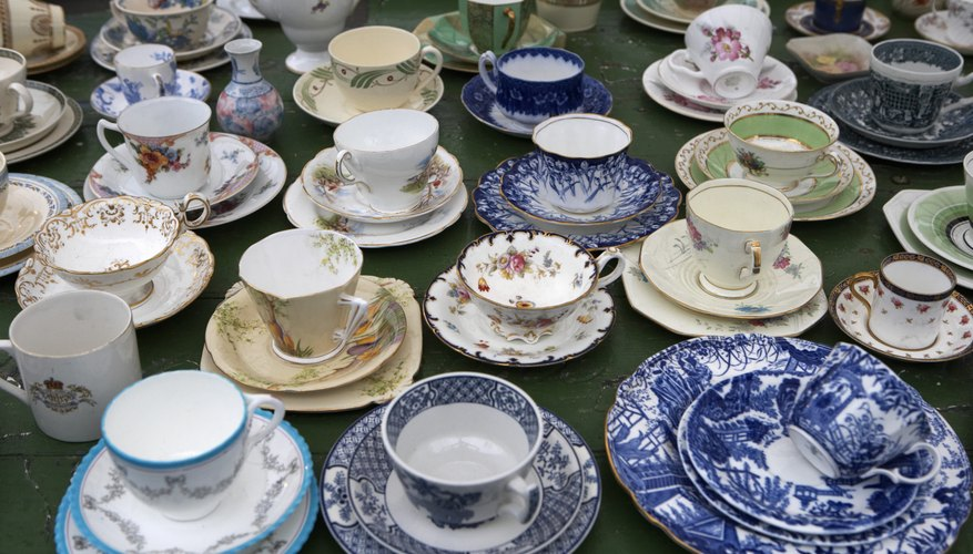Enjoy your vintage teacups by having them out on display.