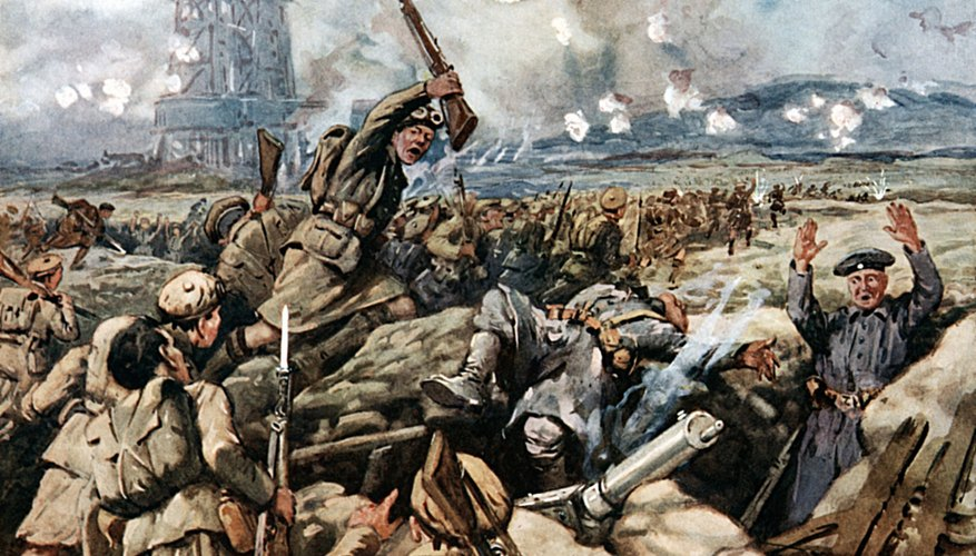 who invented the machine guns in ww1