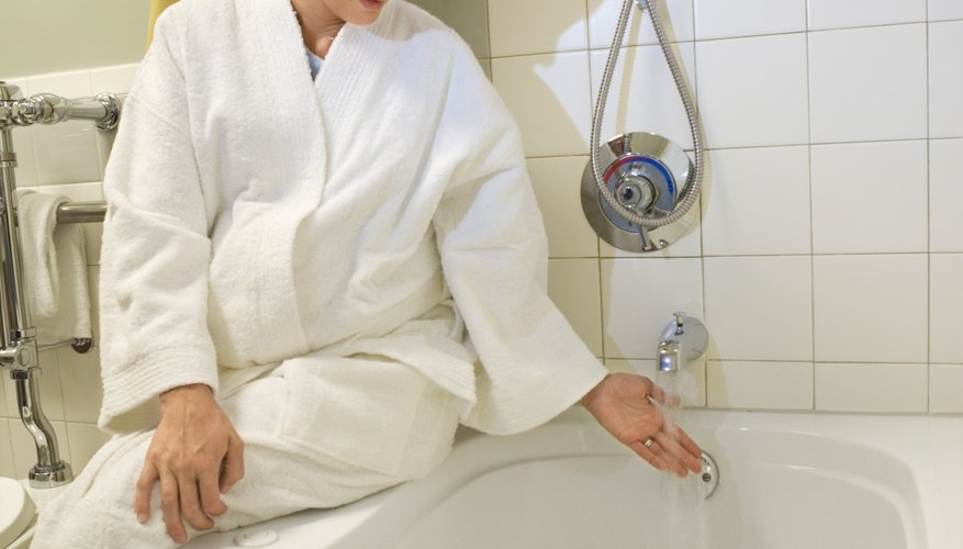 Shaving is easier after a warm bath, since the warm water softens the hair.
