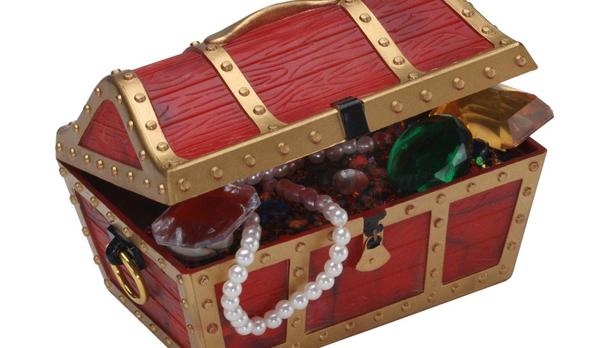Fill the treasure chest with party favors for the teenagers.