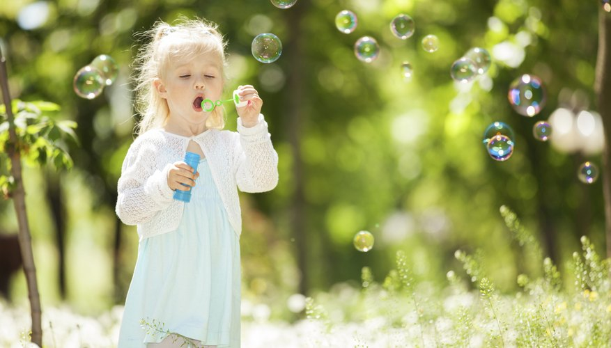 Bubbles can make most children feel better