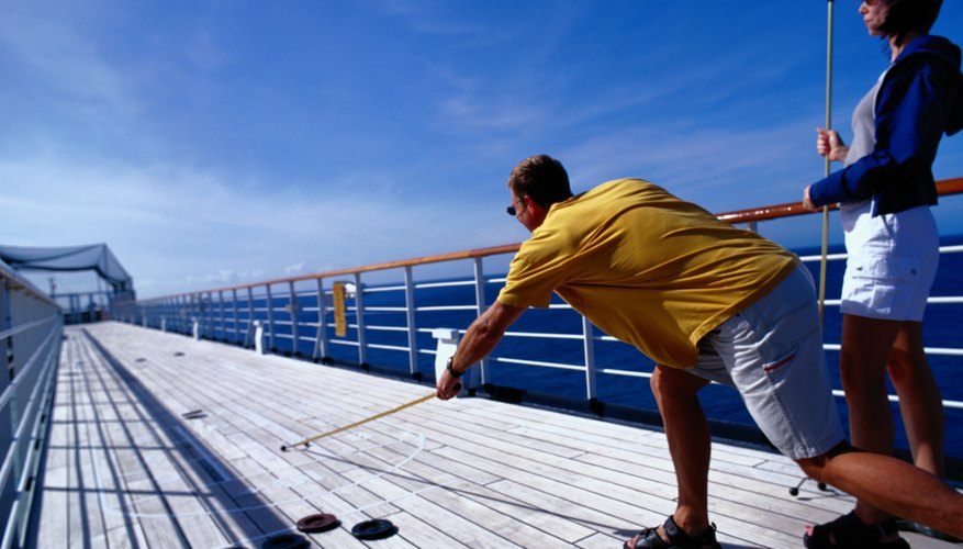 You don't have to be on the deck of a cruise ship to play shuffleboard, but it helps.