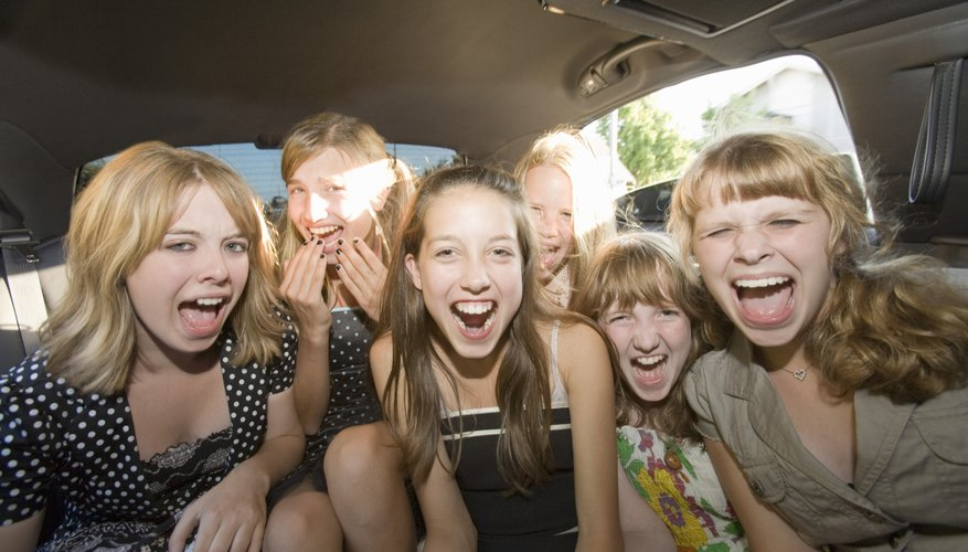 It may be fun to rent a limousine for a group of girls.
