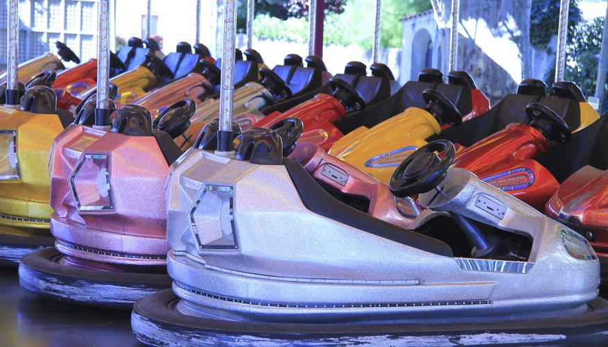 row of bumper cars