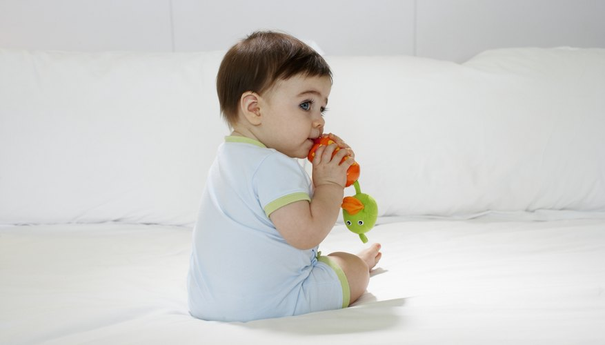 Chewing and sucking can relieve teething pain.