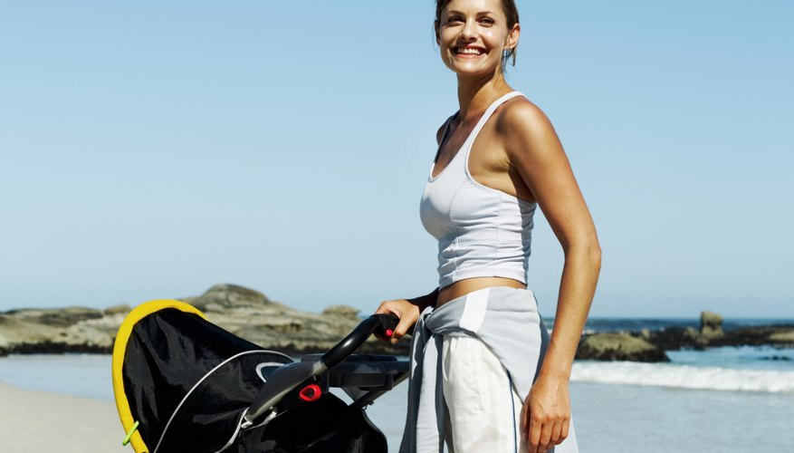 Roll your stroller right onto the beach and block the sun with the visor.