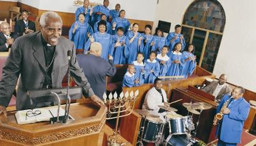 Gospel music is found in many churches.