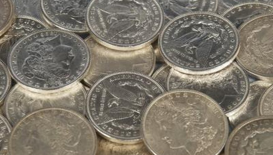 Silver dollar coins are available for sale at various places.