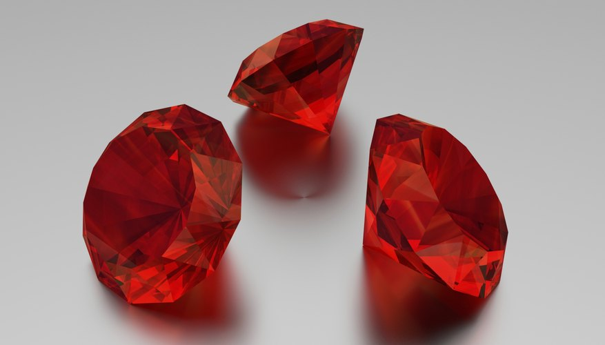 Rubies come from underground rock formations.