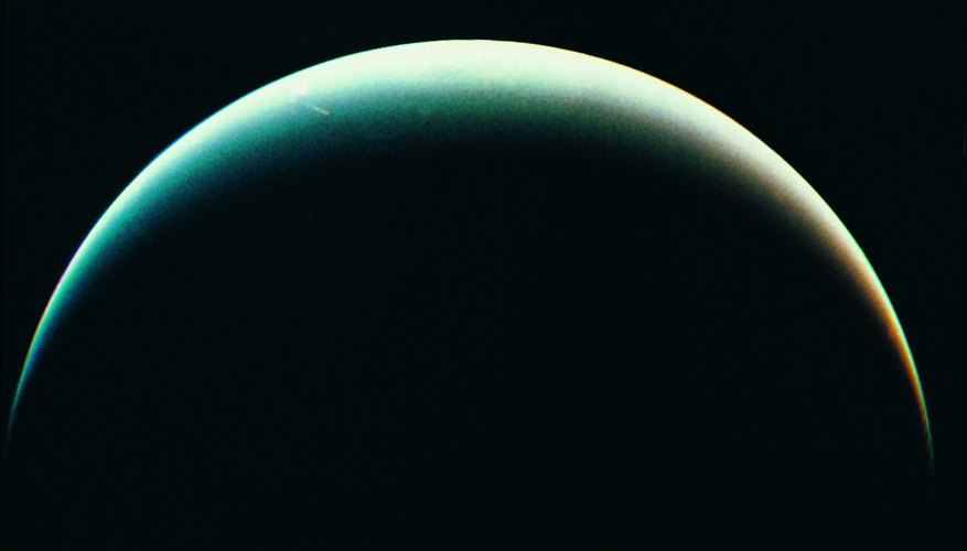 View of Neptune from Voyager spacecraft
