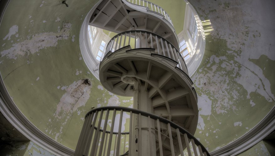 A spiral staircase is an example of a helical structure.