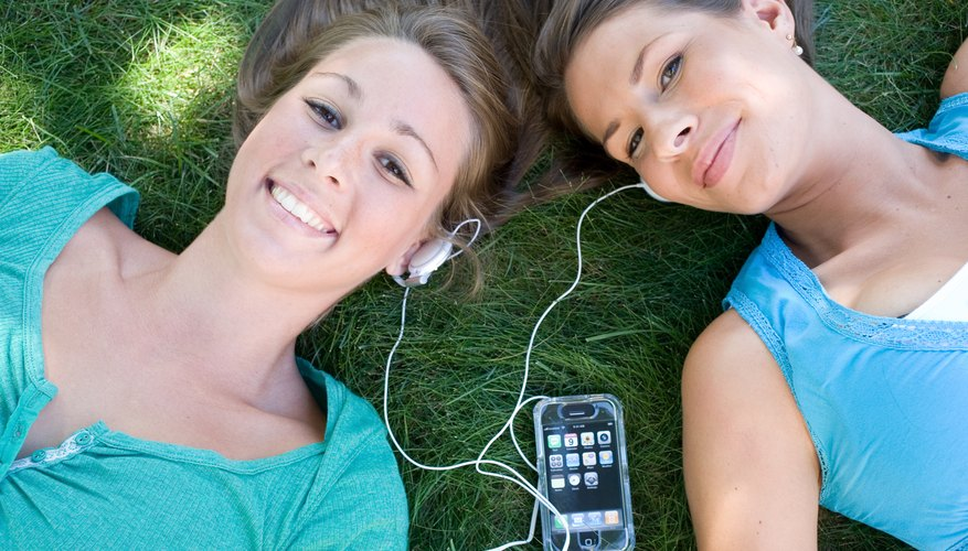 Most teen girls love listening to music.