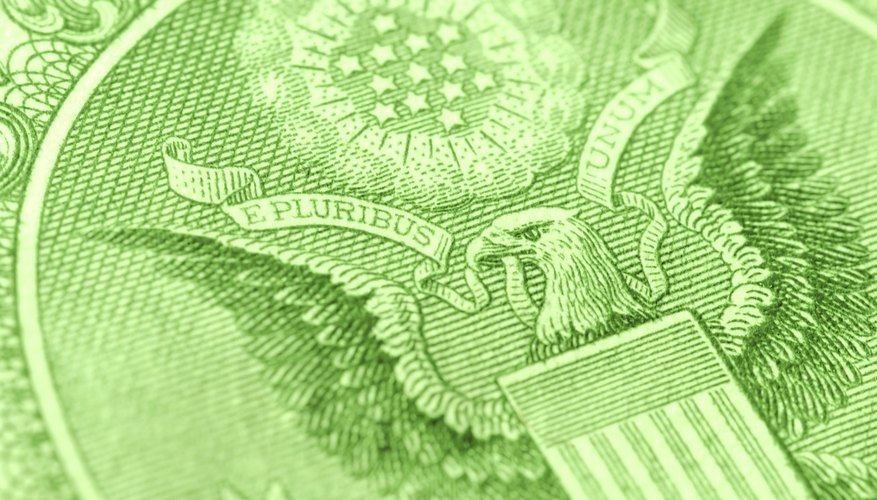 Close Up of Eagle on Dollar bill
