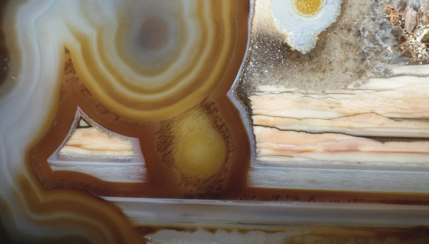 The banding on an agate is reminiscent of pictures of the planet Jupiter..