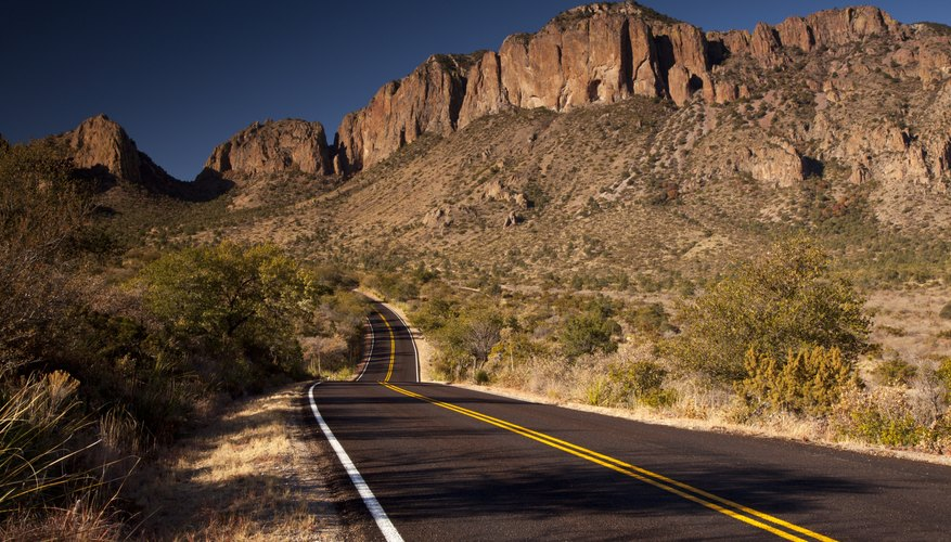 The road leading into Big Bend National Park.