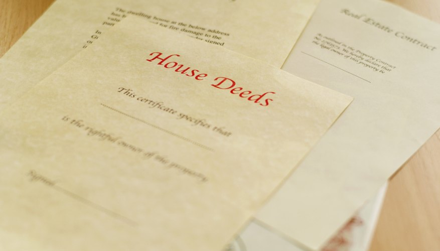 A deed may have grantees and grantors typed or handwritten.