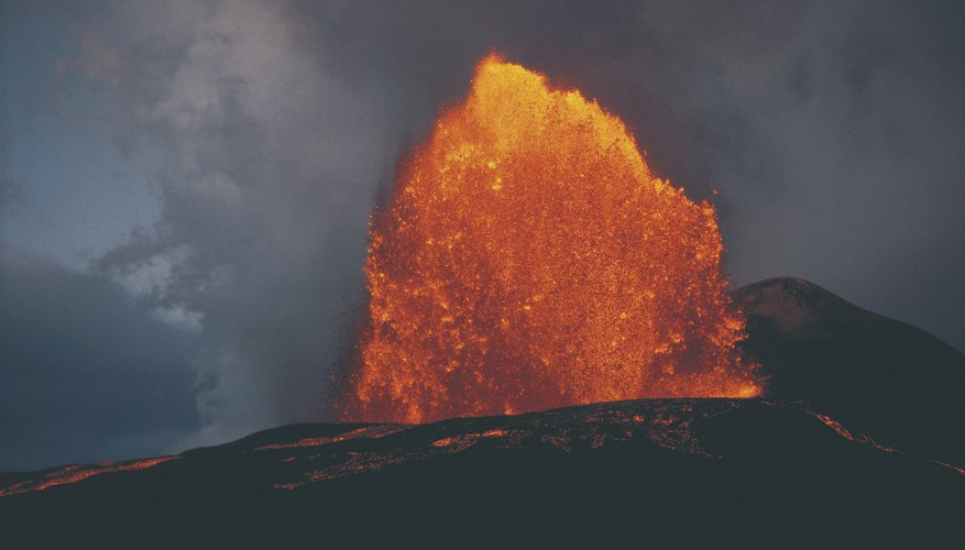 Volcanic eruptions massively disrupt the ecosystems within their footprint.