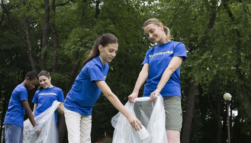Teens can help clean up parks to improve their emotional well-being.