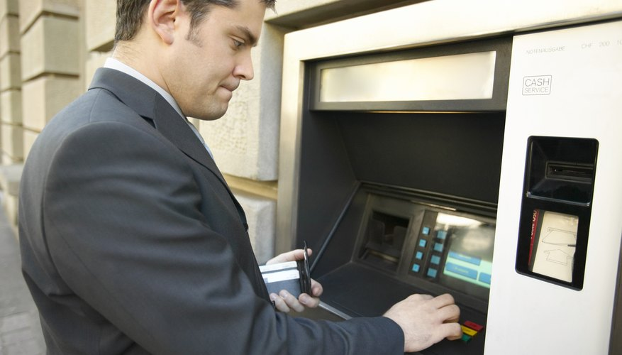 An ATM offers convenient cash withdrawal.