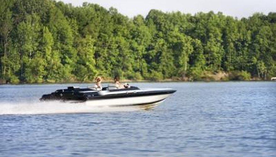 Outboard motor mounts help improve boat maneuverability.