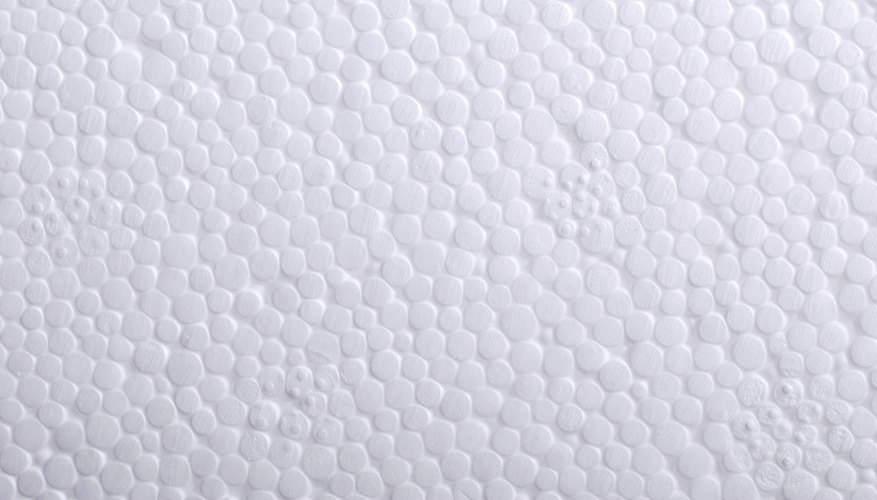 Close-up of styrofoam