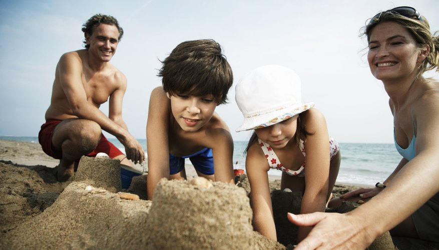 Sandcastles on the beach make for great memories.