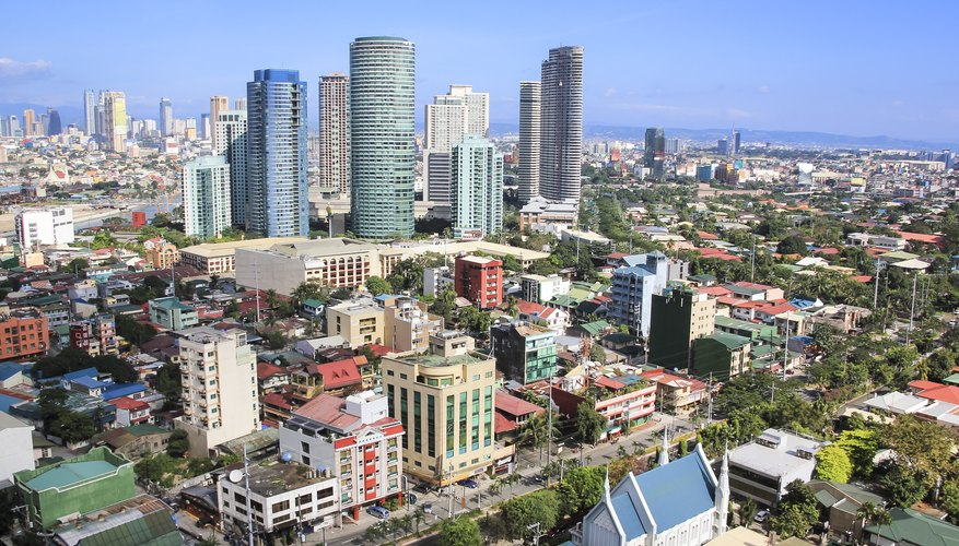 Skyline of city in the Philippines.