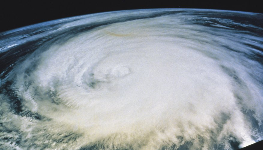 The heaviest rainfall in a hurricane is typically in the inner spiral.