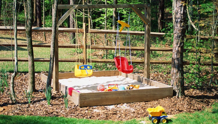 A sandbox is a good addition to your backyard playground.